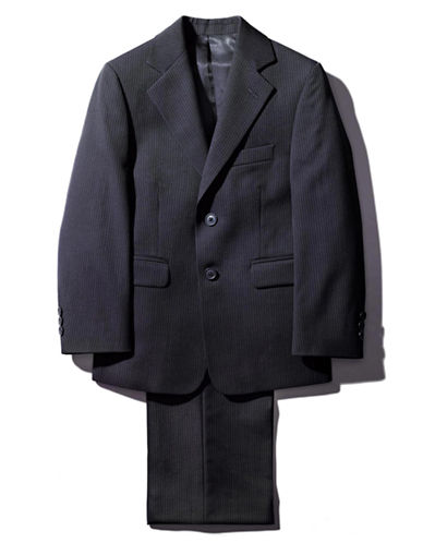 LORD & TAYLOR KIDS Guys 8-20 Navy Wool Blend Pinstripe Suit