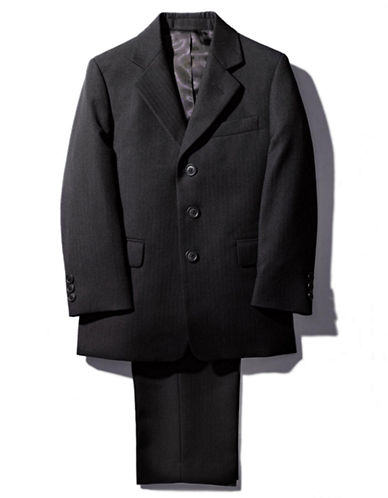 LORD & TAYLOR KIDS Guys 8-20 Black Wool Blend Suit