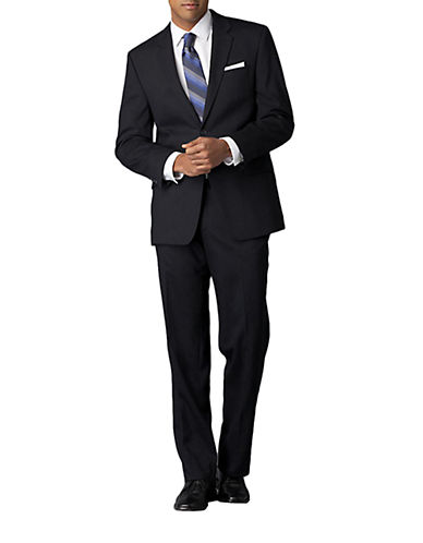 CALVIN KLEIN Modern-Fit Navy Solid Wool Suit