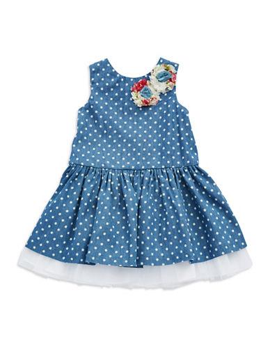PIPPA & JULIEGirls 2-6x Polka Dot Fit and Flare Dress