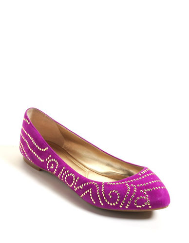 ENZO ANGIOLINISahni Studded Suede Flats