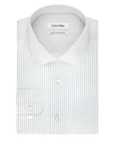 CALVIN KLEINRegular Fit Pima Stripe Dress Shirt