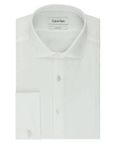 CALVIN KLEINSolid Slim Fit Dress Shirt