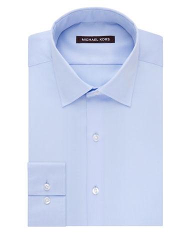 michael kors male regularfit cotton sutton longsleeve shirt
