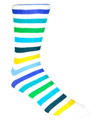 BLACK BROWN 1826Rugby Stripe Socks
