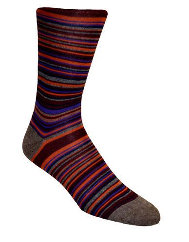 BLACK BROWN 1826Multi Thin Stripe Socks