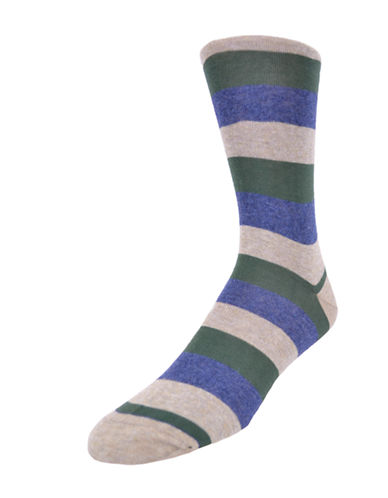 BLACK BROWN 1826 Rugby Striped Socks