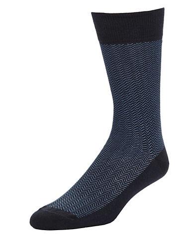 BLACK BROWN 1826Patterned Dress Socks