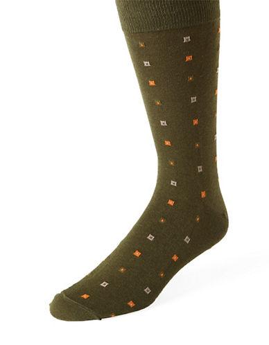 BLACK BROWN 1826Square Print Socks