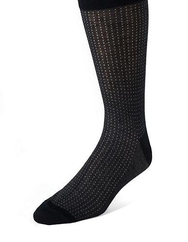BLACK BROWN 1826Dot Print Dress Socks