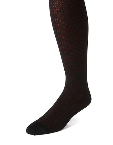 BLACK BROWN 1826Dot Print Socks