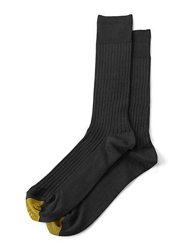 GOLD TOERibbed Cotton Socks