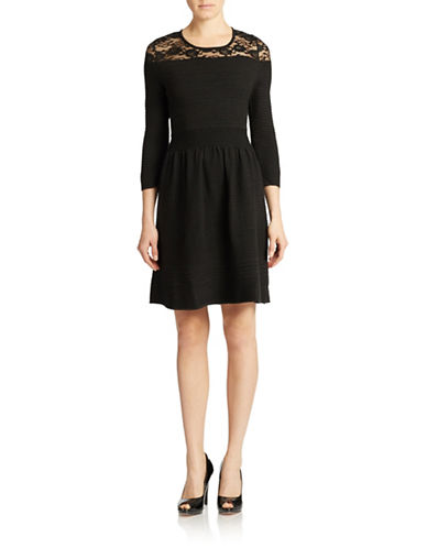 Shop Jessica Simpson online and buy Jessica Simpson Opera Lace Yoke Pintuck A Line Dress dress online