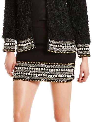 JESSICA SIMPSONBeaded Mini Skirt