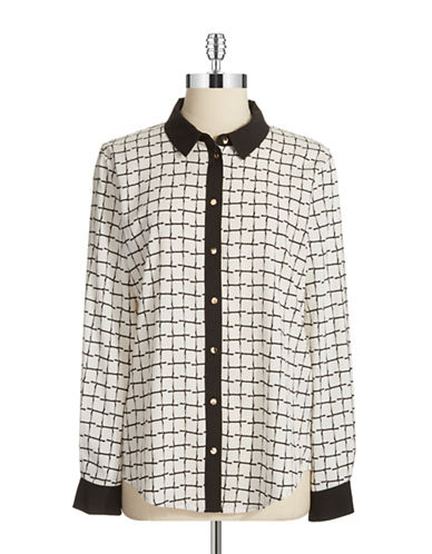 IVANKA TRUMP Grid Patterned Blouse