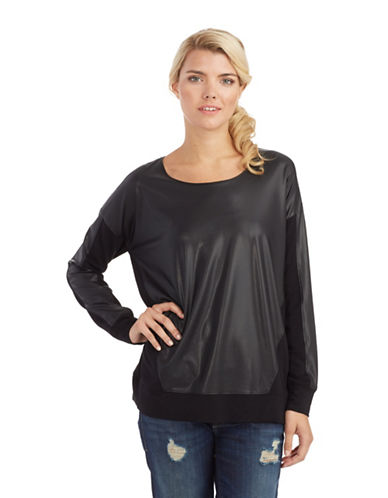 KENSIEFaux Leather Front Top