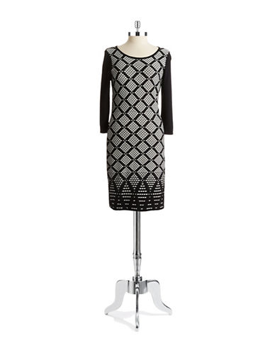 Shop Ivanka Trump online and buy Ivanka Trump Patterned Sweater Dress dress online