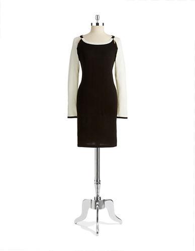 IVANKA TRUMPColorblocked Knit Dress