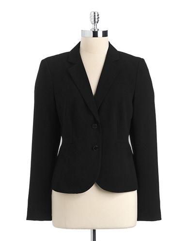 calvin klein female 188971 plus three quarter sleeved suit jacket