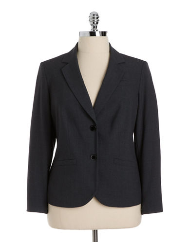 calvin klein female 217293 plus two button suit jacket