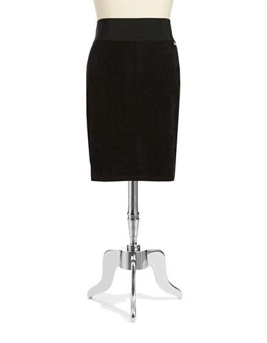 Plus Faux Suede Skirt plus size,  plus size fashion plus size appare