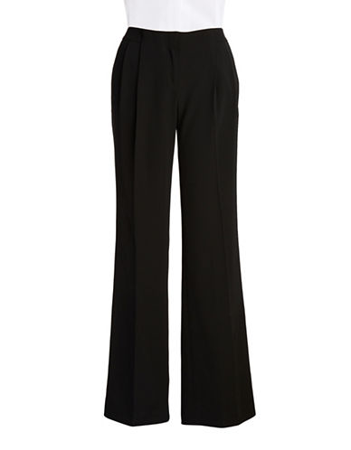 CALVIN KLEIN Pleated Straight-Leg Pants