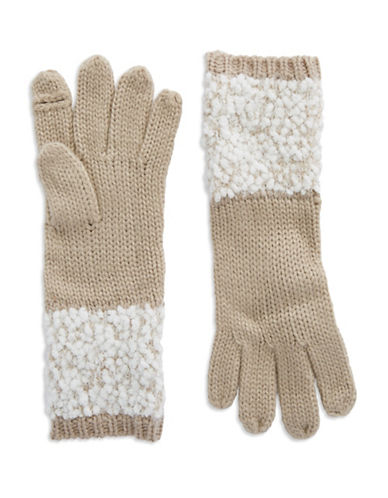 CALVIN KLEINBoucle Mixed Knit Gloves