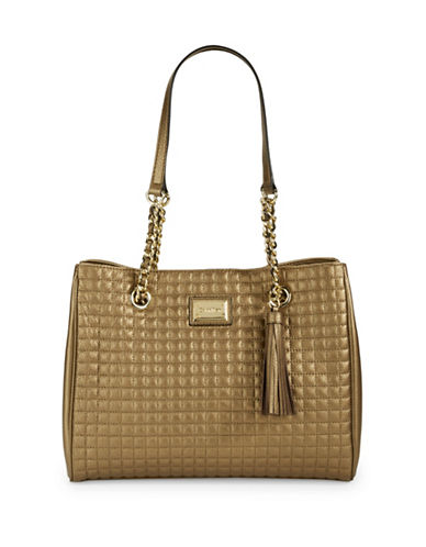 CALVIN KLEIN Quilted Leather Tote