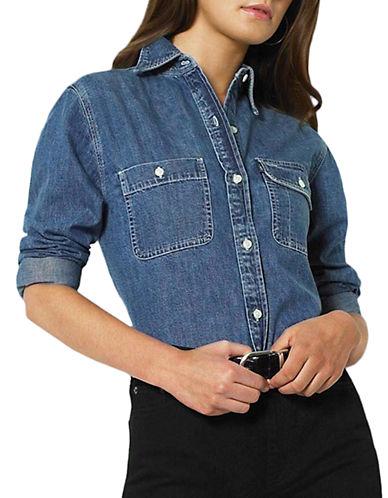 LAUREN RALPH LAURENPlus Chambray Pocket Shirt