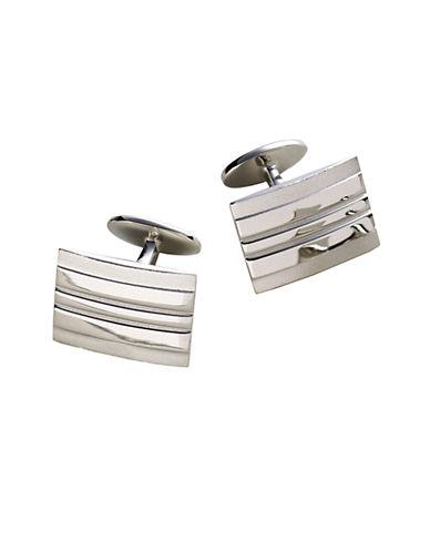 DAVID DONAHUESterling Silver Rectangle Cufflinks
