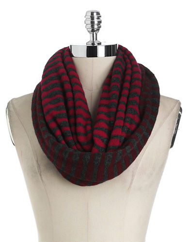PORTOLANO Reversible Striped Infinity Scarf