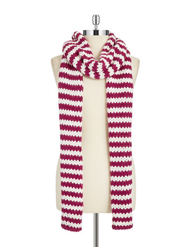PORTOLANO Striped Knit Scarf