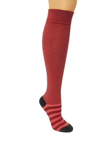 KATE SPADE NEW YORKFun Solid and Stripe Knee High Socks