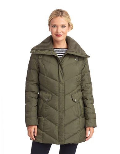 COLE HAANDown Parka With Oversized Knit Collar