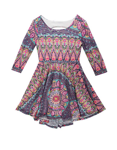 RARE EDITIONSGirls 7-16 Patterned Fit-and-Flare Dress