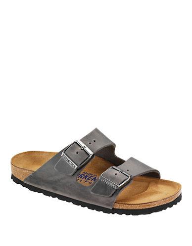 BIRKENSTOCKArizona Iron Oiled Leather Sandals