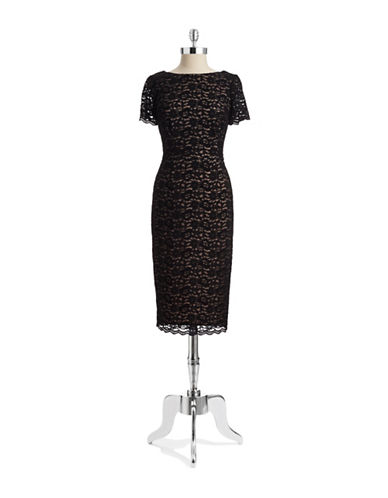 MAGGY LONDONBow Back Lace Dress