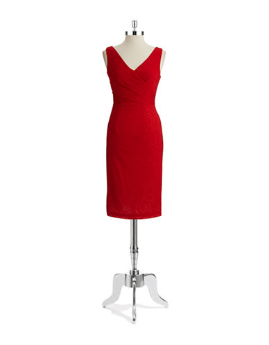 Shop Maggy London online and buy Maggy London V Neck Sheath Dress dress online