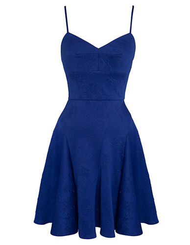 ALI ROEmbossed Scuba Fit and Flare Dress