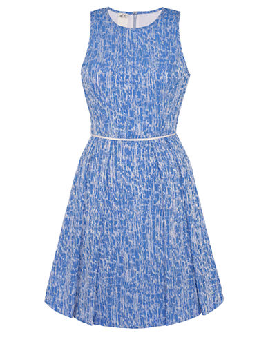 ALI RO Stretch Jacquard Fit and Flare Dress