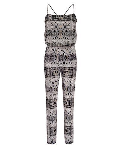 Shop Ali Ro online and buy Ali Ro Print Silk Jumpsuit dress online