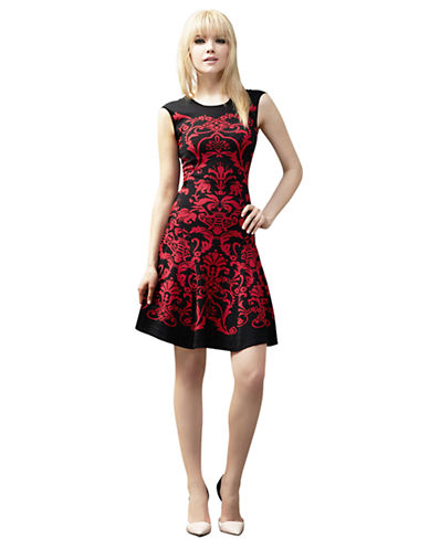 MUSEFiligree Fit and Flare Sweater Dress