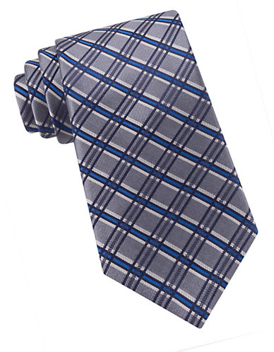 Modern Check Silk Tie $79.50 AT vintagedancer.com