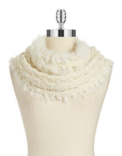 CEJONFur Trimmed Knit Scarf
