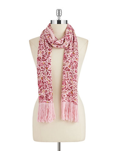 JOOLAY Floral Fringed Scarf
