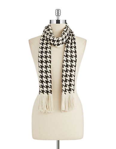 JOOLAY Houndstooth Fringed Scarf