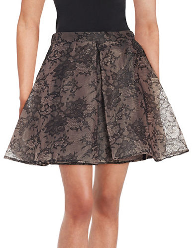Design Lab Lord & Taylor Pleated Lace Skirt