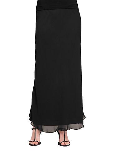 ALEX EVENINGSPlus Long A-Line Skirt