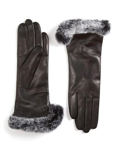 CAROLINA AMATOFur-Trimmed Leather Gloves
