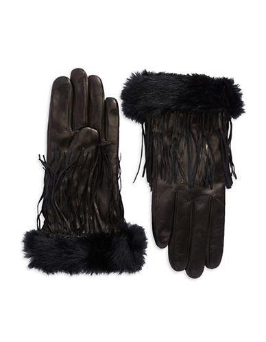 CAROLINA AMATOFringe Accented Leather Gloves